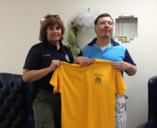 Scottsboro PD Donates Shirts