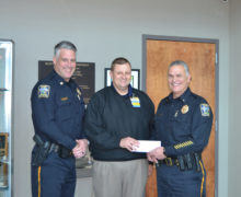 DEPARTMENT RECEIVES DONATION FOR NEW EQUIPMENT