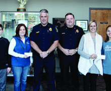 SCOTTSBORO POLICE DONATE TO CHILDHOOD CANCER CHARITIES