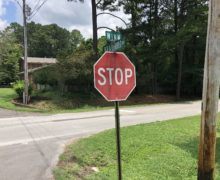 Stop Signs Installed on Winn Rd. Intersection